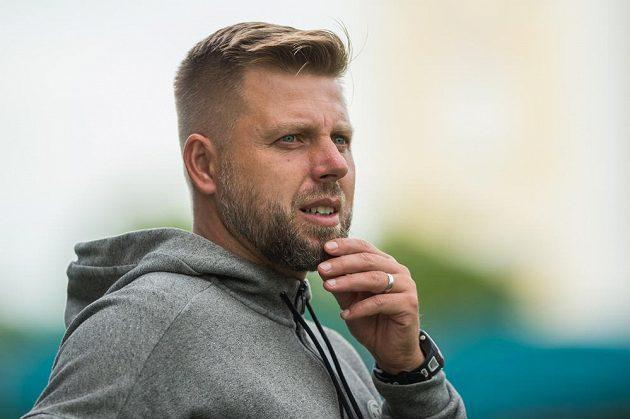 Trenér Budějovic David Horejš.