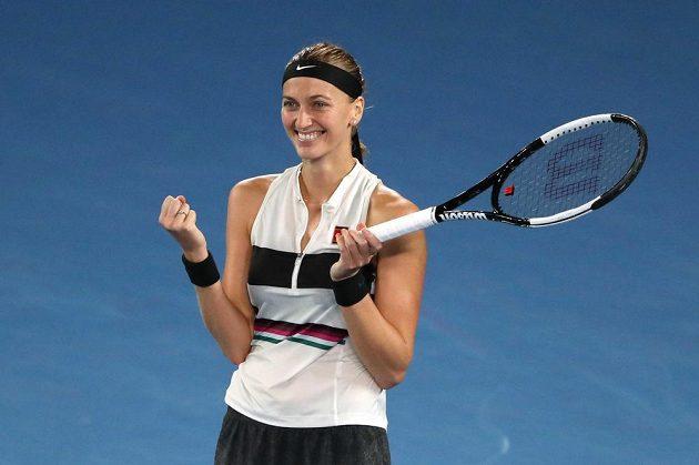 Postup. Petra Kvitová je po výhře nad Danielle Collinsovou ve finále Australian Open.