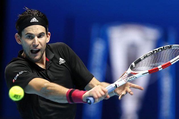 Rakouský tenista Dominic Thiem ve finále Turnaje mistrů.