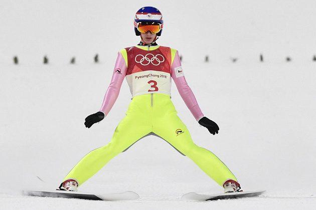 Z české čtveřice skokanů na lyžích v kvalifikaci na závod na středním můstku na OH v Pchjongčchangu uspěli jen Roman Koudelka a Viktor Polášek (na snímku).