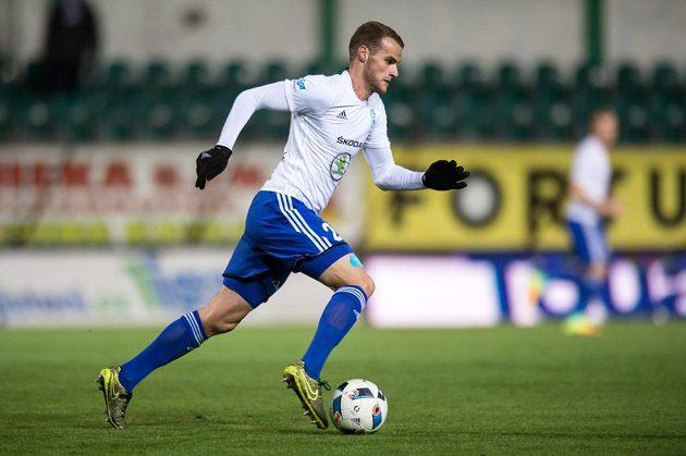 Lukáš Pauschek z Mladé Boleslavi v utkání s Bohemians.