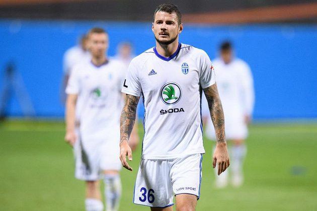 Zklamaný Daniel Pudil z Mladé Boleslavi po utkání 3. předkola Evropské ligy.