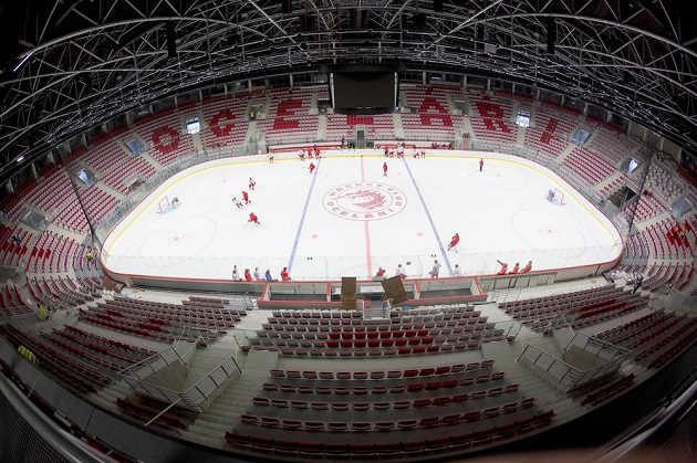 Nová hala třineckých hokejistů.