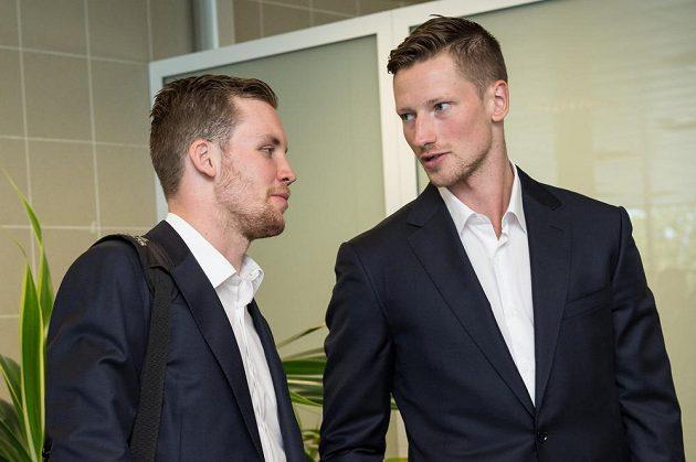 Radek Faksa (vlevo) a Andrej Šustr.