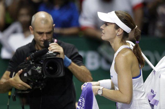 Martina Hingisová odehrála zřejmě svůj poslední zápas na okruhu v semifinále Turnaje mistryň v Singapuru.