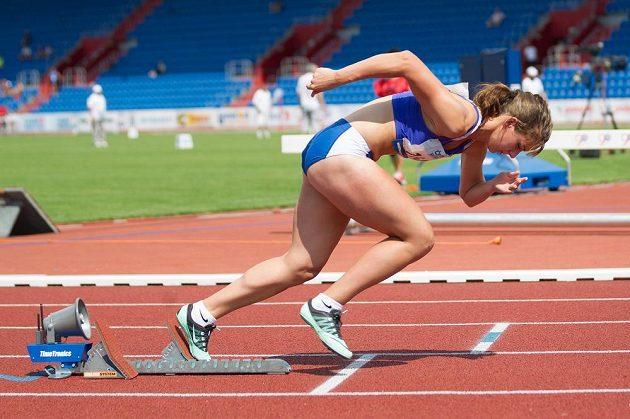 Vítězka běhu na 400 metrů Helena Jiranová.