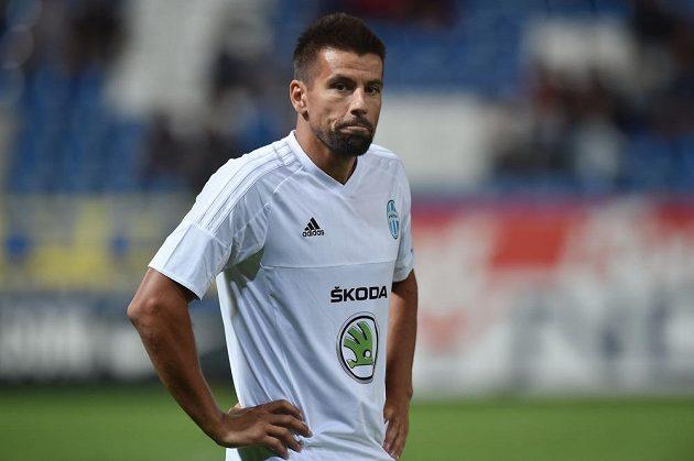 Zklamaný Milan Baroš z Mladé Boleslavi po čtvrtém gólu Liberce v 1. kole Synot ligy.