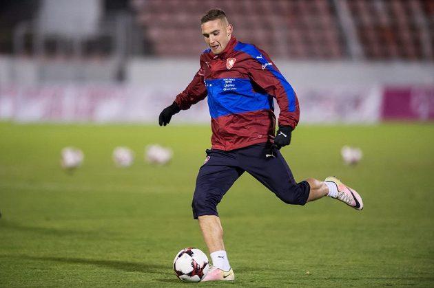 Pavel Kadeřábek během tréninku fotbalové reprezentace .
