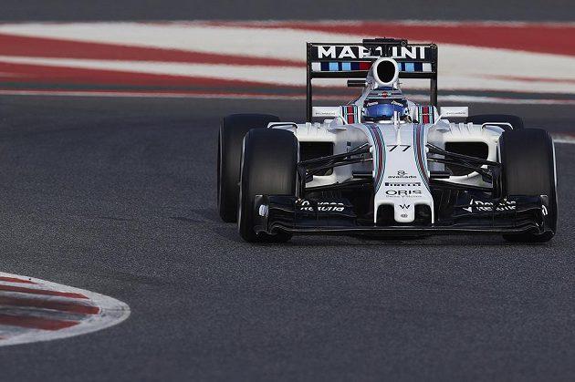Valtteri Bottas během testů v Barceloně.