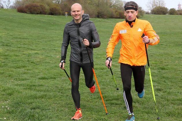 Také Dalibor Gondík vyzkoušel nordic running.
