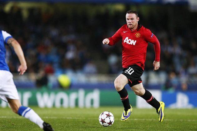 Kanonýr Manchesteru United Wayne Rooney.