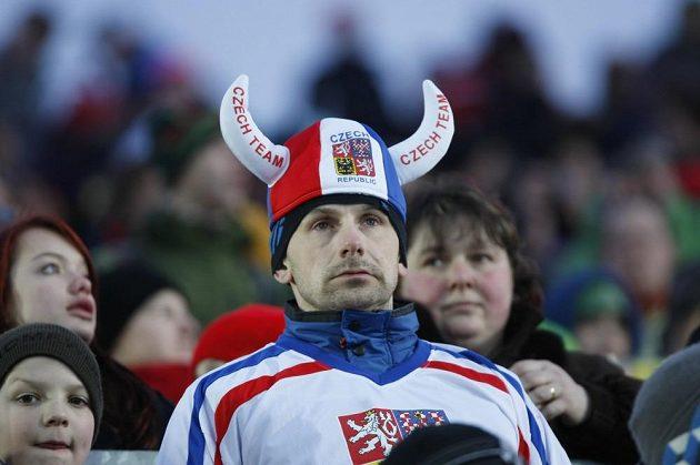 Čeští fanoušci v Novém Městě na Moravě.