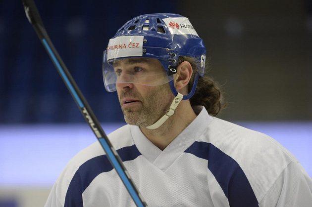 Jaromír Jágr znovu oblékl dres kladenského klubu.