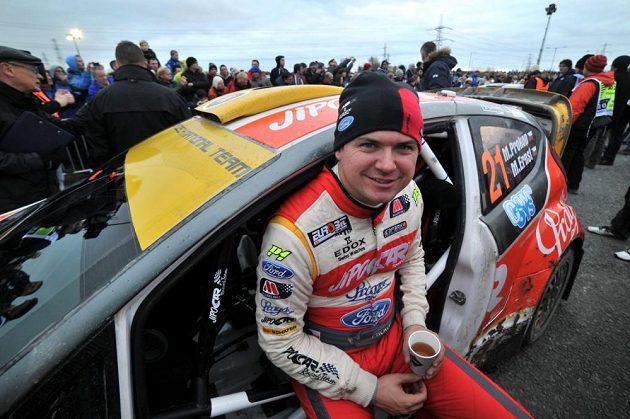 Martin Prokop při Britské rallye 2013.
