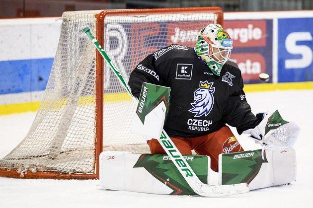 Roman Will během tréninku hokejové reprezentace před turnajem Beijer Hockey Games.