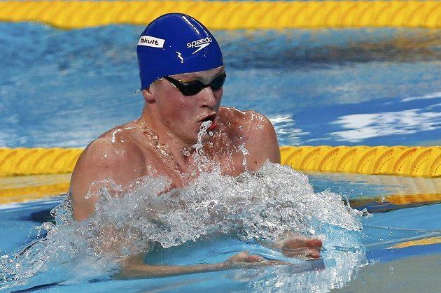 Britský plavec Adam Peaty (na snímku) vylepšil v semifinále MS v Kazani světový rekord Jihoafričana Camerona van der Burgha.