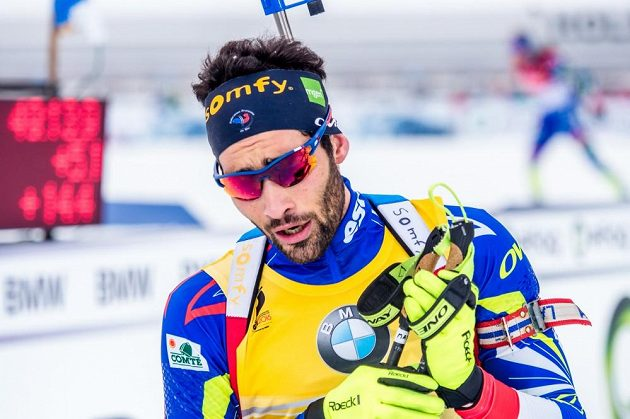 Francouzský biatlonista Martin Fourcade.