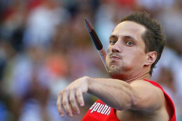 Vítězslav Veselý ve finále oštěpařů na mistrovství světa v Moskvě.