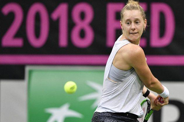 Před finále Fed Cupu už v Praze trénují i Američanky. Na snímku Alison Riskeová.