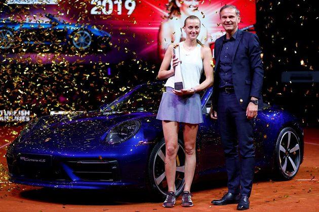 Česká tenistka Petra Kvitová po triumfu na turnaji ve Stuttgartu