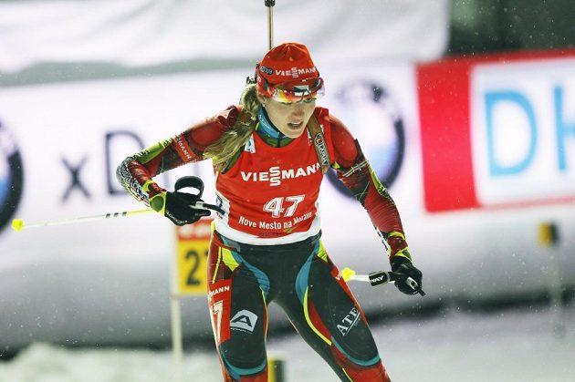 V běžecké části se Gabriele Soukalové vedlo.