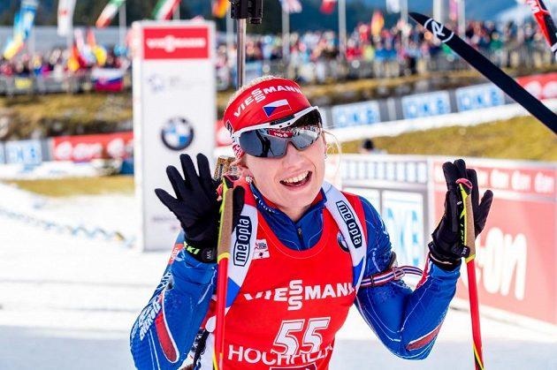 Dvaadvacetiletá Lucie Charvátová je další českou biatlonovou nadějí.