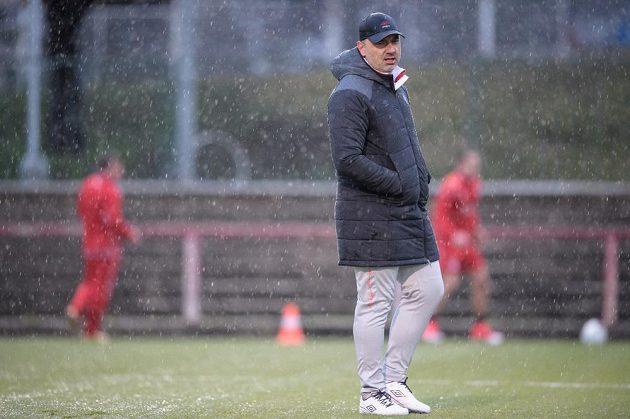 Nový trenér Slavie Praha Jindřich Trpišovský během zahájení zimní přípravy v Edenu v Praze.