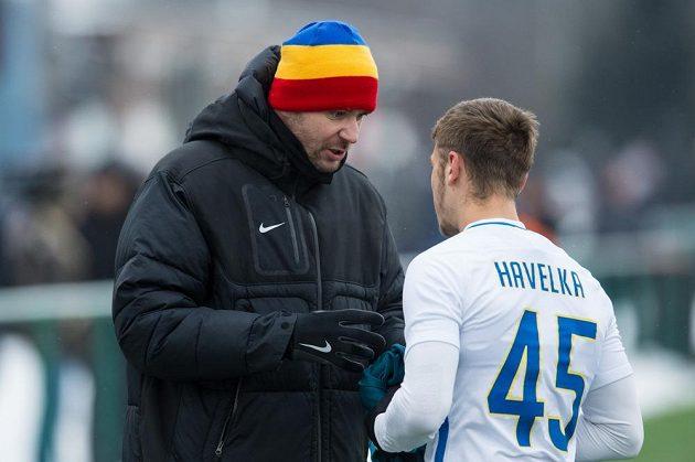 Trenér Sparty David Holoubek a Filip Havelka.