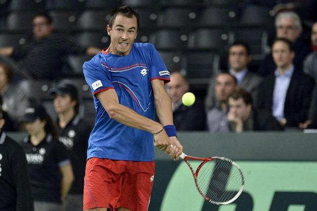 Český tenista Lukáš Rosol na Švýcara Stanislase Wawrinku nestačil.