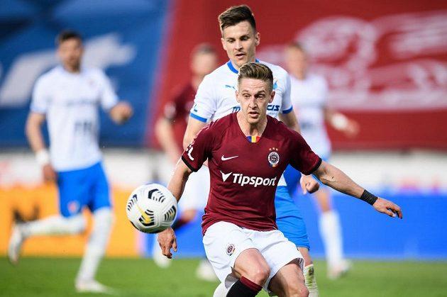Tomáš Wiesner ze Sparty Praha během utkání 31. kola Fortuna ligy.