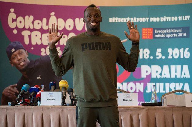 Jamajský sprinter Usain Bolt v Praze.