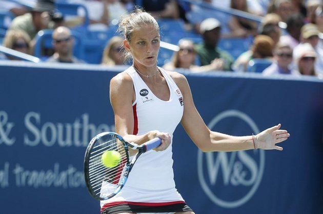 Česká tenistka Karolína Plíšková ve finále turnaje Western & Southern Open.