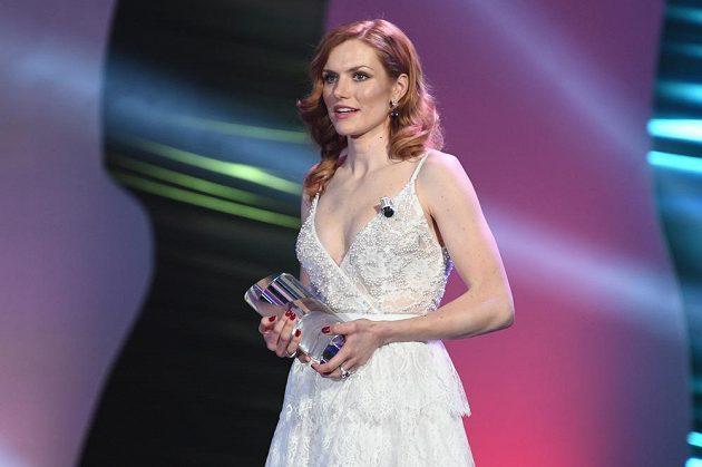 Gabriela Koukalová při vyhlášení výsledků ankety Sportovec roku.