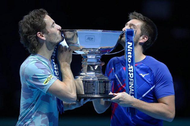 Wesley Koolhof a Nikola Mektič vyhráli tenisový Turnaj mistrů a slaví první společný titul.
