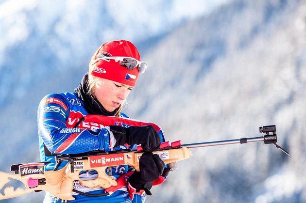 Česká biatlonistka Barbora Tomešová na archivním snímku.