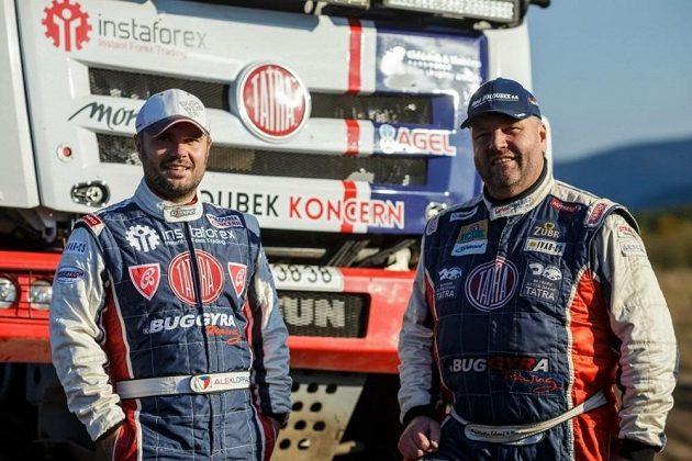 Aleš Loprais a Martin Kolomý (vpravo).