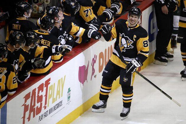 Sidney Crosby slaví branku
