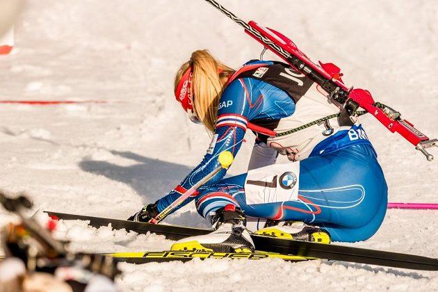 Zničená Eva Puskarčíková po svém úseku.