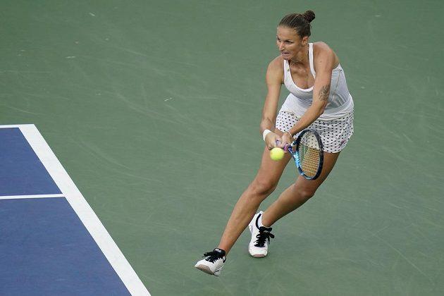 Česká tenistka Karolína Plíšková v akci na grandslamovém US Open.