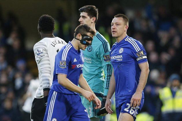 Hlavní postava utkání mezi Chelsea a Evertonem, John Terry.