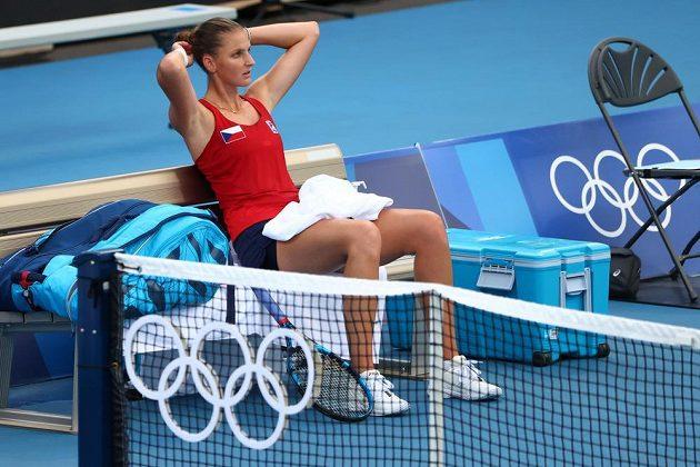 Karolína Plíšková osmifinále olympiády nezvládla.