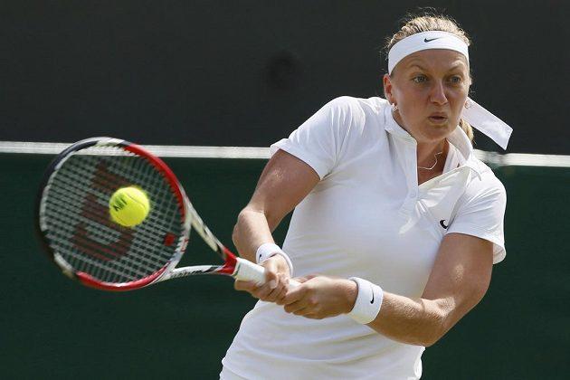 Petra Kvitová v zápase s Číňankou Pcheng Šuaj.