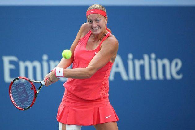 Česká tenistka ve čtvrtfinálovém zápase US Open s Italkou Flavií Pennettaovou.
