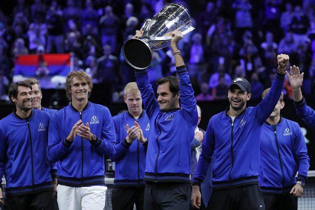 Druhý ročník Laver Cupu ovládli jako loni v Praze tenisté Evropy