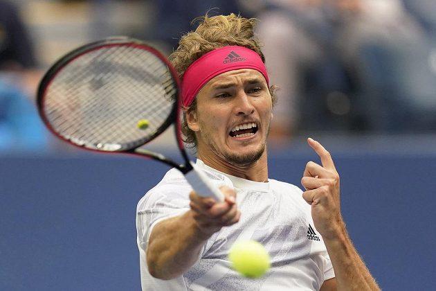 Alexander Zverev ve finále US Open.