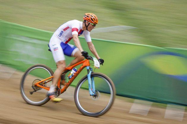 Jaroslav Kulhavý na trati olympijského závodu.