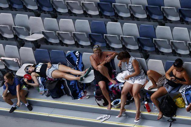 I fanoušci na Australian Open trpěli během úterních veder.