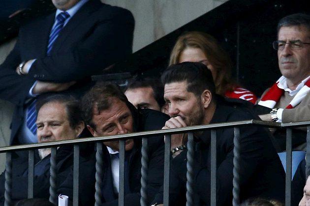 Diego Simeone dokoukal zápas s Málagou jen na tribuně.