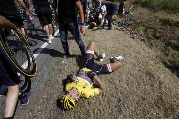Dosavadní lídr Tour de France Fabian Cancellara ze Švýcarska.