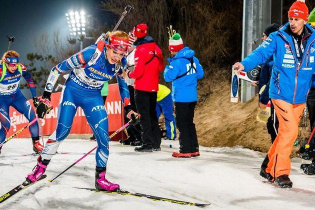 Gabriela Koukalová měla ve stíhacím závodě nejlepší běžecký čas.